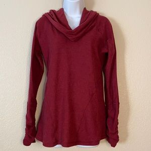 Kuhl Raspberry Red Ruched Cowl Hoodie Pullover